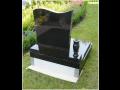 Prodej náhrobků z černé a šedé leštěné žuly