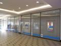Interiérové celoprosklené dveře stěny bezrámové konstrukce Hradec