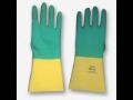 Chemicky odolné dvouvrstvé rukavice latex/neopren
