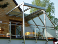 Prosklené terasové přístřešky