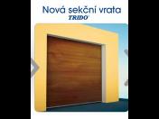 Sekční garážová vrata Trido Evo Kladno - novinka na trhu s jednoduchou montáží