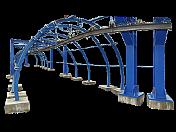 Systém závěsné dopravy v tunelech a důlních chodbách, tratě, lokomotivy
