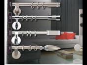 Moderní záclonové a závěsové tyče s kolejnicemi, oživí a zútulní Váš domov