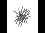 Pružinový komínový kartáč a růžice pro razantní až frézové vyčištění komínů