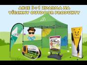 Reklamní poutače 3+1zdarma - reklamní slunečníky, vlajky, stany, tabule