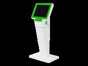 Multimediální informační kiosky a panely s výdejnou lístků pro komunikaci s klienty