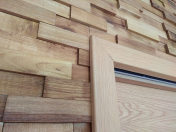 Interiérová dřevěná mozaika na stěnu - obložení na zeď, strop
