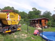 Napuštění bazénu teplou vodou - Praha a okolí