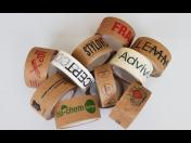 Výroba eko pásky, recyklovatelné papírové lepící pásky s potiskem - popisovatelné, ručně trhatelné