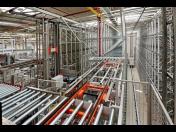 Komplexní dodávka montážních linek s roboty a automatického skladu Chrudim