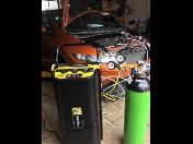 Proplach celého systému klimatizace před výměnou požkozeného kompresoru