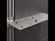 Praktické poličky do koupelen Schlüter zajistí odkládací prostor ve sprchovém koutě i v kuchyni
