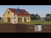 Domovní ČOV, doplněná zásobní nádrží na vyčištěnou vodu Čáslav
