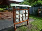 Vzdělávací herní prvky na dětská hřiště - venkovní dřevěné pexeso