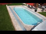 Plastové a laminátové bazény Liberec, Bazénové zastřešení a různé příslušenství, montáž, servis