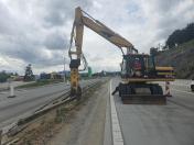 Odborná demontáž, odvoz a výkup silničních svodidel z oceli přímo na místě