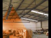 Průmyslové plynové infrazářiče Schulte - nízkoteplotní sálavé systémy pro vytápění hal