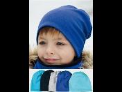 Dětská sada hřejivé bavlněné čepice a nákrčníku podšívkou z fleecu