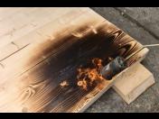 Opalování dřeva - opálení dřevěných trámů, desek prodlouží jejich životnost