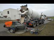 Doprava a čerpání anhydritu– aplikování samonivelačního potěru