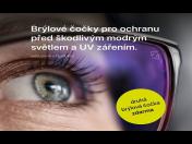 Brýlové čočky chránící zrak před modrým světlem a UV zářením – druhá čočka zdarma