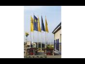 Speciální vlajkové stožáry pro prezentaci firem, výrobních závodů - výroba a prodej