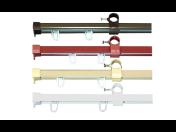 Kvalitní garnýžové kolejničky na pověšení závěsů, záclon v e-shopu - plastové, alu