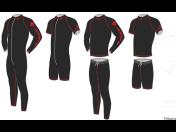 Thermoprádlo – hokejová ribana ze čtyř typů materiálu - Bodycool, Thermo, 50/50 a bavlna s potiskem i bez potisku