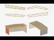 Odolné příhradové vazníky Greim pro výrobní haly a rodinné domy - montáž, výroba