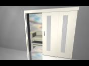 Atypické posuvné dveře v různých rozměrech - výroba na míru, montáž, prodej v eshopu