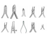 Ortodontické nástroje  Hu-Friedy – kleště, dosazovače, jehelce, peany