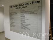 Reliefní 3D firemní štíty, instalace reklamních cedulí Praha -   nová škála podkladových i povrchových materiálů