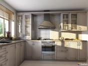 Moderní vzhled kuchyně - fóliovaná kuchyňská dvířka s grafickými motivy