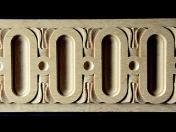 Lišty z masivního dřeva, originální vyřezávané lišty - perličkové, vlnité, spirálové