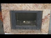 Mramorové obklady krbů a stěn - realizace dle přání zákazníka, originální design