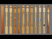 Výroba, dodávka schodišť, dřevěné součásti na výrobu schodišť-šprušle, sloupky, madla