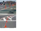 Pružné směrové sloupky - značení na silnicích, viditelné sloupky