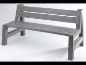 Plastová lavička s opěradlem Transform | Lázně Bohdaneč