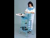 Pojízdný vizitový vozík, stolek na chorobopisy a zdravotnický materiál s dlouhou životností