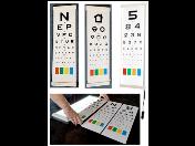 Závěsná optotypová tabule s osvětlením i bez - pro snadné vyšetření ostrosti zraku