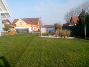 Terénní modelace, realizace okrasné, rodinné zahrady-včetně zavlažování