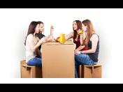Jednorázový papírový nábytek z vlnité lepenky - párty sada pro každou příležitost