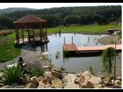 Jezírka na koupání, okrasný zahradní přírodní bazén - stavba a realizace na klíč