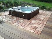 Dřevěná dlažba, podlahové čtverce, dlaždice-několik provedení