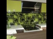 Výroba obkladových skel kuchyňských linek a koupelen, obklady stěn