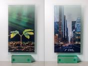 Potisk skla s vizuálním efektem Double Vision pro nadstandardní interiérové, komerční vybavení