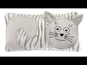 Tvarovaný polštářek z mikrovlákna - roztomilý doplněk do dětského pokojíčku