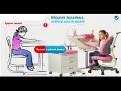 Dobré sedenie, ako by deti mali správne sedieť - zdravotné stoličky a stoly Amadeus pre deti, Česká republika