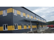 Výstavba starších i nových hal, přístřešků a administrativních budov