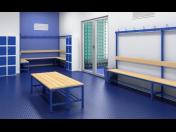 Šatní lavice, sestavy laviček do šaten, škol, tělocvičen, areálu, bazénu a koupališť na míru